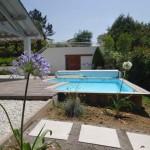 vue piscine de la villa