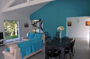 Salon - Villa en Location - Arcangues